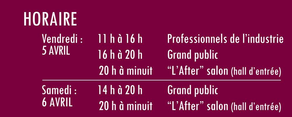 horaire salon vin et spiritueux Centre-du-Québec